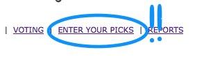Enter Your Picks
